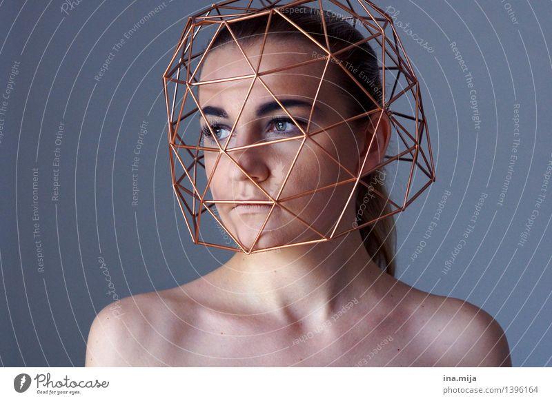 Gedanken, die nicht vergehen III Mensch feminin Junge Frau Jugendliche Erwachsene Leben Gesicht 1 18-30 Jahre 30-45 Jahre Traurigkeit Sorge Trauer Sehnsucht