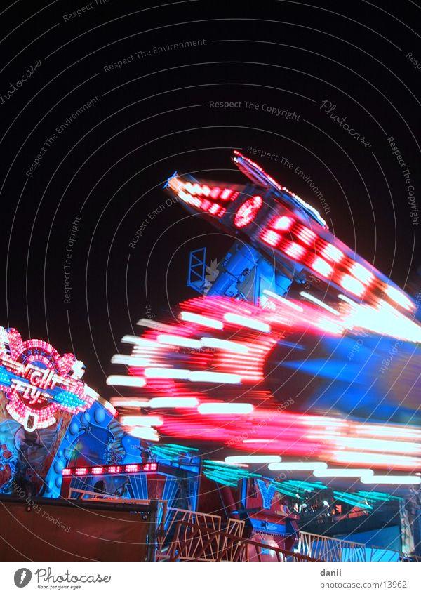 Karussellfahrt Nacht Freizeit & Hobby Jahrmarkt