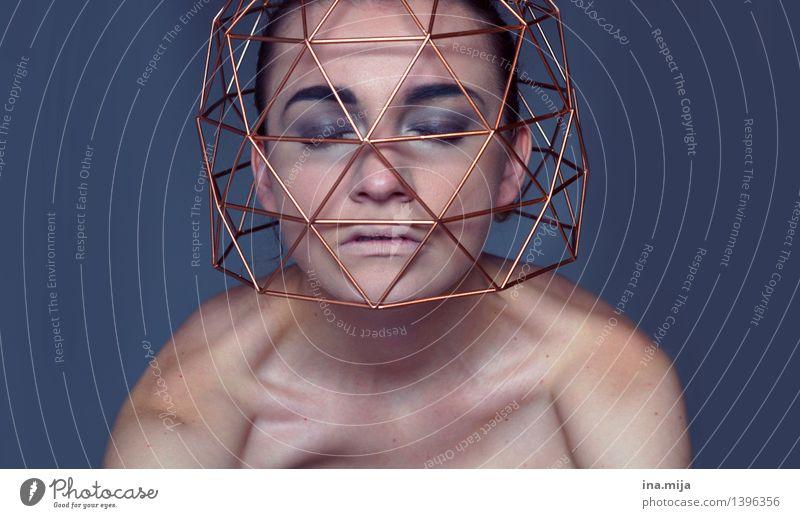 in seinen Gedanken gefangen |500 Mensch feminin Junge Frau Jugendliche Erwachsene Leben Gesicht 1 18-30 Jahre 30-45 Jahre Selbstbeherrschung Traurigkeit Sorge