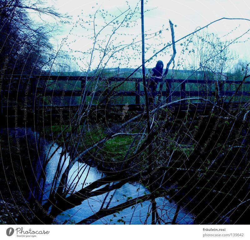 you can wait until hell freezes over! Wasser warten Brücke Langeweile Aufenthalt anlehnen Ungeduld