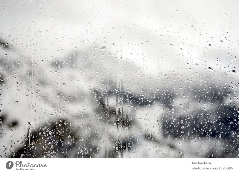 Scheibenkleister Natur weiß Landschaft schwarz kalt Berge u. Gebirge Umwelt Schnee Stimmung Wassertropfen Klima nass Urelemente Wandel & Veränderung Neugier Alpen