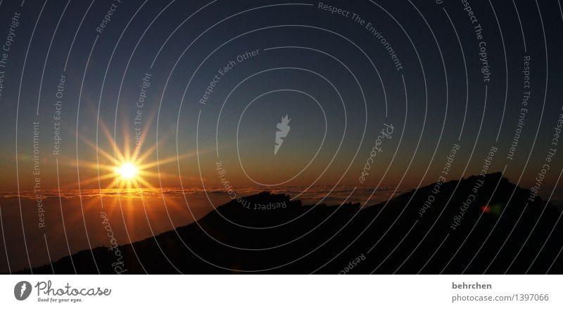 carpe noctem Himmel Ferien & Urlaub & Reisen schön Sommer Sonne Landschaft Wolken Ferne Berge u. Gebirge Frühling außergewöhnlich Freiheit orange träumen