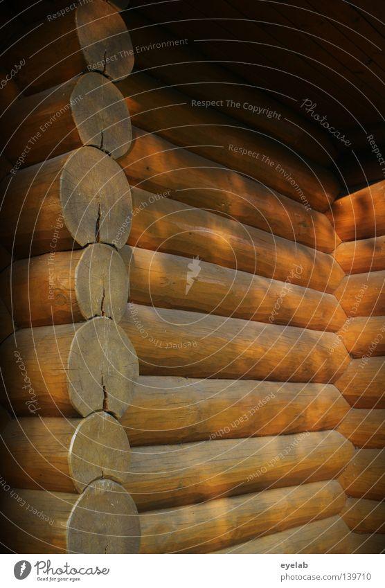Rustikales Eckchen Haus Gebäude Holz Holzhaus Unterkunft Dach Gartenhaus lackiert Sommer gemütlich Ferien & Urlaub & Reisen Freizeit & Hobby rustikal