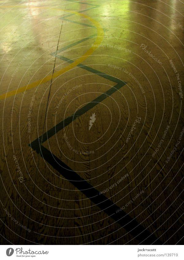 Linien Ruckzuck zackzack Sportstätten Kunststoff eckig fest Stimmung Akzeptanz Neugier Beginn Sinnesorgane Ziel Geometrie gekrümmt Anordnung Achse Ebene