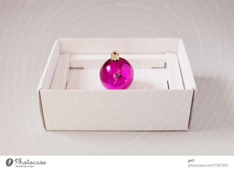 Weihnachtskugel Pink Weihnachten & Advent weiß rosa Design ästhetisch Geschenk einfach violett Überraschung Vorfreude Verpackung Karton Christbaumkugel Verpackungsmaterial