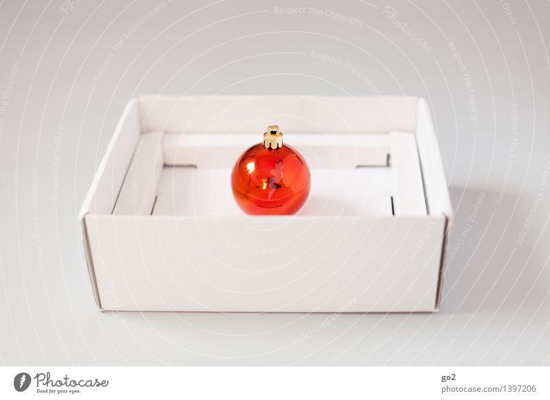 Weihnachtskugel Rot Weihnachten & Advent weiß rot orange Design ästhetisch Geschenk einfach Überraschung Vorfreude Verpackung Karton Christbaumkugel
