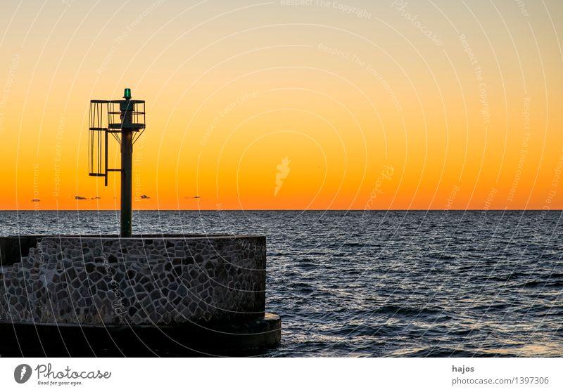 Sonnenuntergang an der Ostsee Freizeit & Hobby Ferien & Urlaub & Reisen Meer Umwelt Natur Sonnenaufgang orange rot Stimmung Romantik Idylle golden