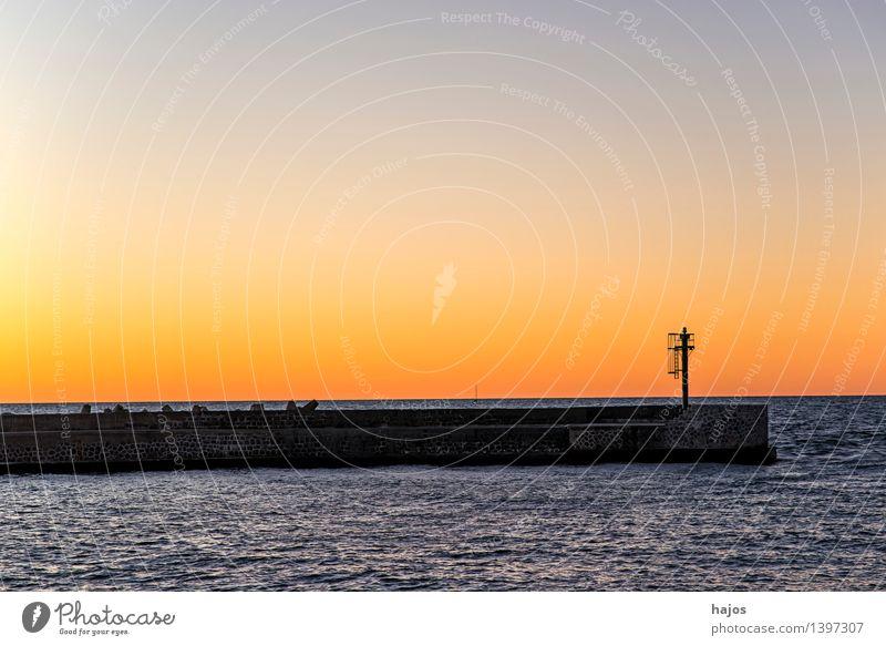 Sonnenuntergang an der Ostsee Freizeit & Hobby Ferien & Urlaub & Reisen Meer Sonnenaufgang rot Stimmung Romantik Idylle golden orange Abenddämmerung