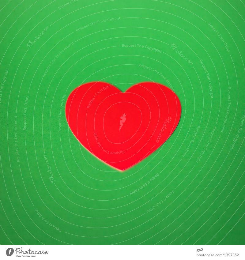 Herzig Gesundheit Gesundheitswesen Basteln Valentinstag Papier Zeichen ästhetisch einfach grün rot Liebe Design Farbfoto Innenaufnahme Studioaufnahme