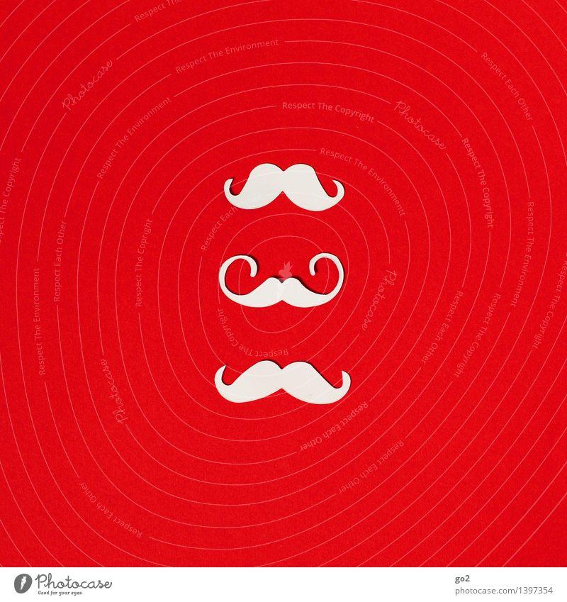 Ho Ho Ho Weihnachten & Advent schön weiß rot maskulin Design ästhetisch einzigartig Papier Bart Weihnachtsmann Basteln Oberlippenbart
