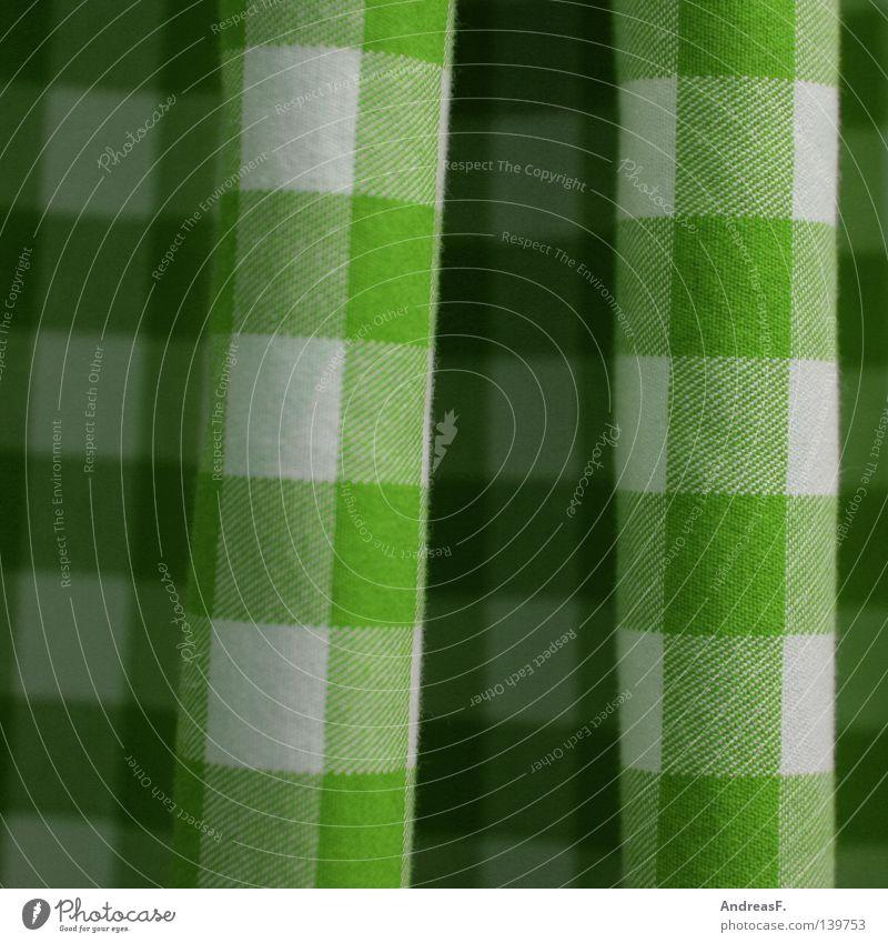 kleinkariert grün Farbe Wellen Bekleidung Küche Stoff Quadrat Falte Vorhang Haushalt Qualität Textilien Handtuch wellig penibel