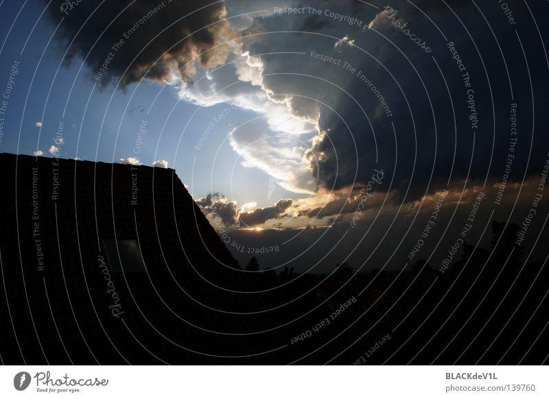 stürmische Zeiten Natur schön Himmel Wolken Landschaft Stimmung Sturm Öffnung Lichtblick