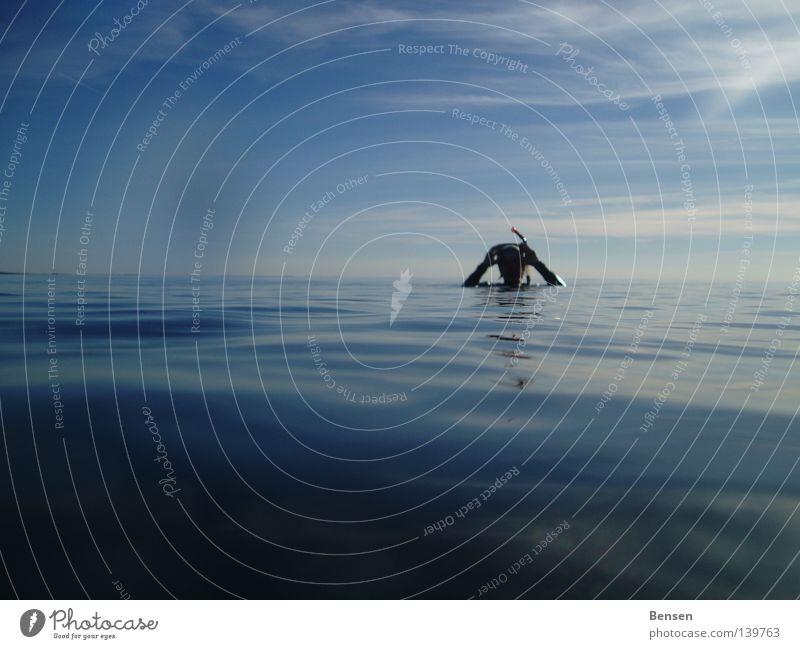 Rambo tauchen Schnorcheln Hiddensee Rügen Reflexion & Spiegelung Meer Wellen Freizeit & Hobby Wasser blau Ostsee