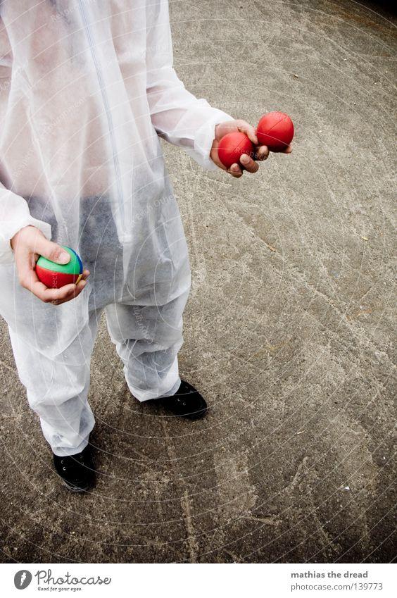 ZIRKUS IN TOWN weiß rot Freude Tier Spielen lustig Luft Feste & Feiern Kunst hoch gefährlich Elektrizität bedrohlich Ball genießen fangen