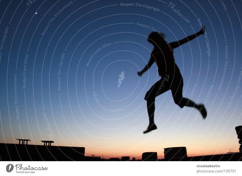 Gravity? No thanks! Himmel ruhig Freude Feste & Feiern Zeit Freiheit fliegen Party springen Energiewirtschaft Luft frei Luftverkehr Wind Erfolg hoch