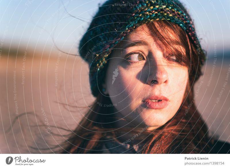 Les Mensch Frau Natur Ferien & Urlaub & Reisen schön Meer Erholung Landschaft ruhig Ferne Strand Erwachsene Umwelt Leben Küste Gesundheit