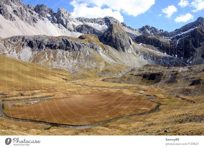 Moor? Natur Berge u. Gebirge braun wandern Alpen Bach anonym fremd Moor