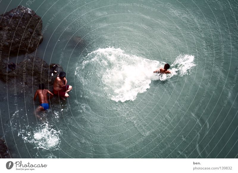 Die Quelle Des Ganges Wasser Regen Küste Bad Fluss Reinigen Indien Rishikesh