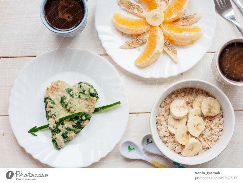 gesunde Ernährung Lebensmittel Gemüse Frucht Orange Getreide Kaffeetrinken Bioprodukte Vegetarische Ernährung Diät Getränk Heißgetränk Teller