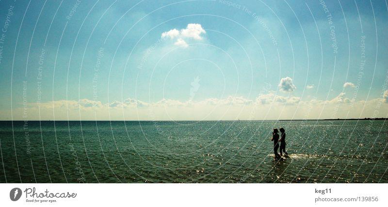 Die Freiheit ... Wasser Himmel Meer grün blau Sommer Strand Ferien & Urlaub & Reisen ruhig Wolken Erholung Sand Flugzeug fliegen frei
