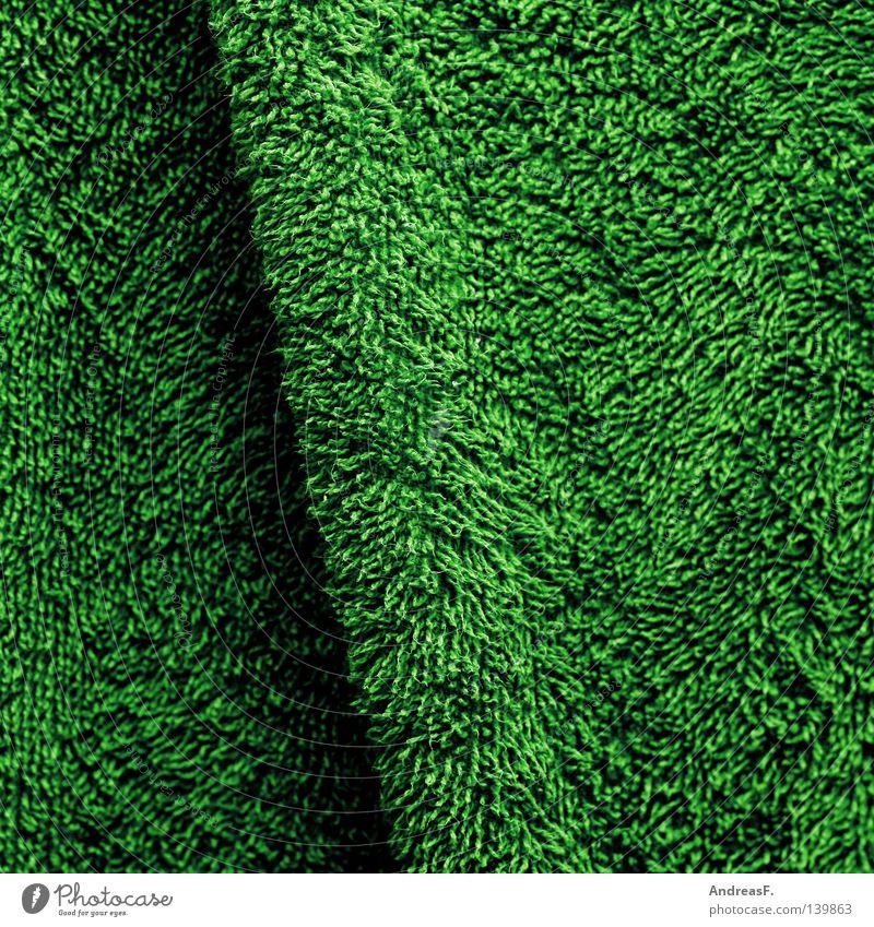 Frottee Frottée kuschlig weich Plüsch Handtuch Wäsche Weichspüler grün Stoff Faser Wolle Textilien Badetuch Haushalt Gras Wiese frottierwaren frotteehandtuch