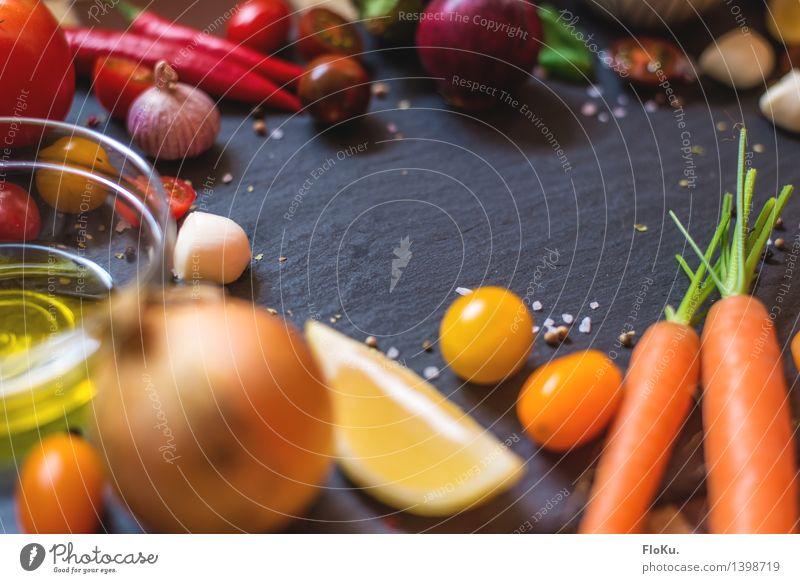 Es wird bunt in der Küche Lebensmittel Käse Gemüse Frucht Kräuter & Gewürze Öl Ernährung Büffet Brunch Bioprodukte Vegetarische Ernährung Diät