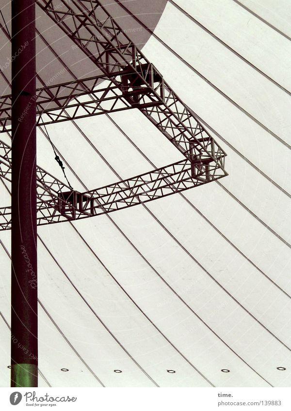 H08 – Querdenker Raum Technik & Technologie Luft Wind Architektur Verkehrswege Zelthimmel Zeltplane Metall Stahl Gelassenheit Kommunizieren komplex Ordnung