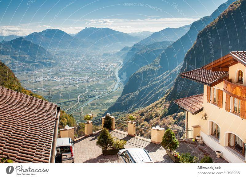 Paganella Trento Italien Ferien & Urlaub & Reisen Berge u. Gebirge Herbst Aussicht hoch Italien Alpen Höhenangst Panorama (Bildformat) Bergkette