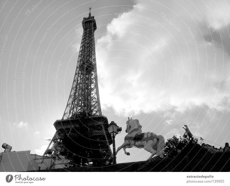 Frankreich Paris Turm Spitze Etel Pferd Kinderkarussell Karussell Haushalt Lamm Jahrmarkt