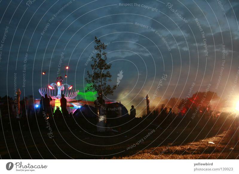 Sonnenaufgang im Wunderland Sommer Freude Lampe Party Musik Tanzen Tanzveranstaltung Club Bühne