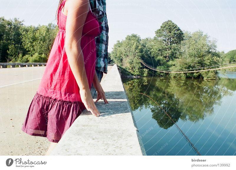 Sonne Sommer Brücke Fluss Filmindustrie Tennessee Charleston