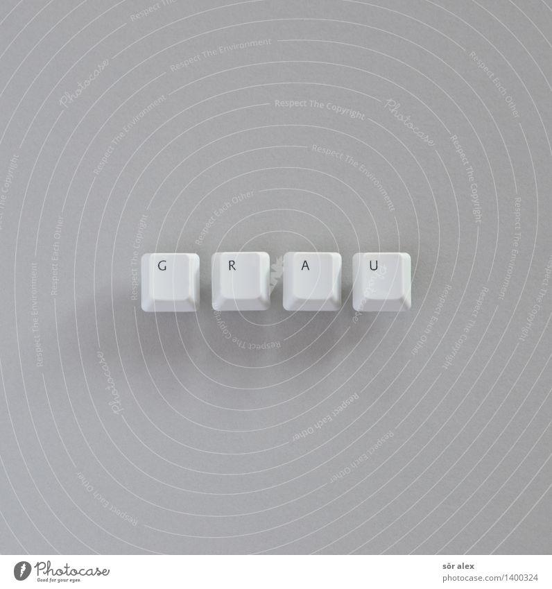 grau- und | schwarzsehen Farbe weiß Traurigkeit Hintergrundbild trist Schriftzeichen Zeichen lesen Buchstaben Trauer schreiben Typographie Tastatur Text Tippen
