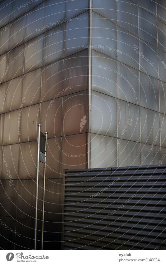 Völlig verstahlt Stahl Blech Haus Gebäude Wellblech blenden Quadrat Patina Grenze Zaun Stahlblech Ständer Chrom Aluminium Edelstahl Fassade Wand Festung
