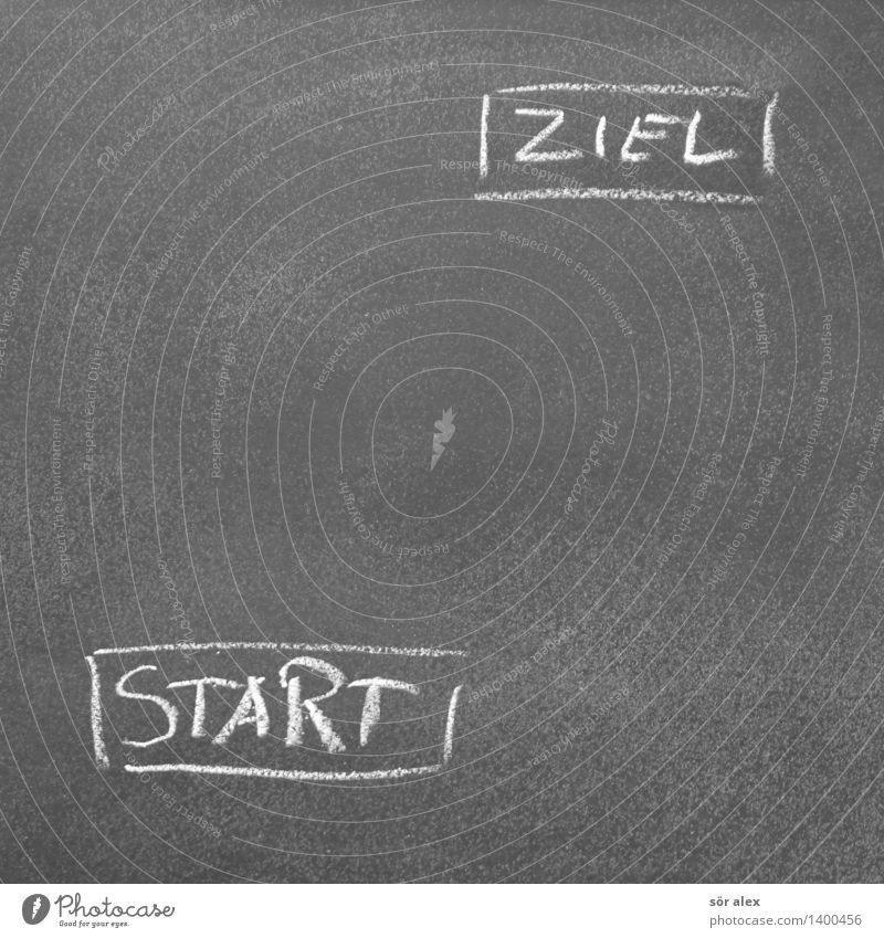 Start-Ziel-Automatik Schule Business Erfolg Schriftzeichen Beginn lernen Studium Zeichen planen Ziel Bildung Beruf Wissenschaften Wirtschaft Karriere Tafel