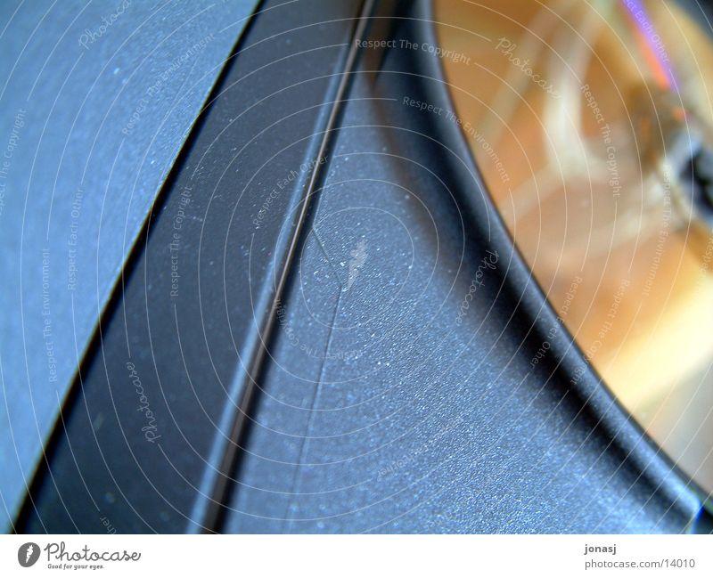 TheDisk DVD-ROM Reflexion & Spiegelung gelb schwarz Freizeit & Hobby Compact Disc disk Hülle Filmindustrie Strukturen & Formen