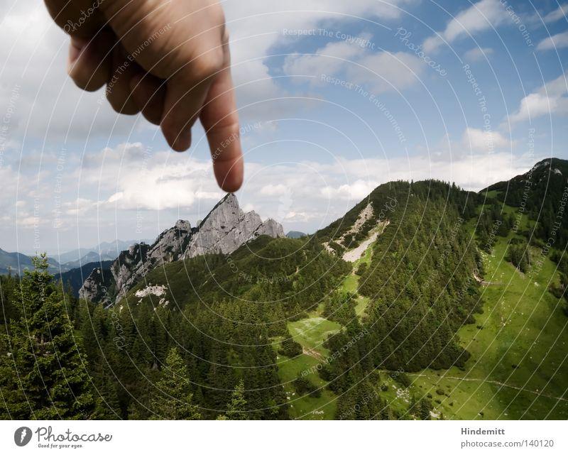 100 | Autsch Himmel Ferien & Urlaub & Reisen blau grün Sommer Baum Hand ruhig Wolken dunkel Wald Berge u. Gebirge Wiese Stein hell Kraft