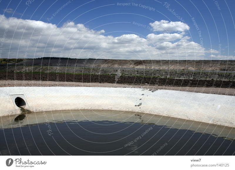 Abwasser Natur Wasser schön alt Himmel Sommer Wolken Mauer See Küste Wellen dreckig Umwelt frisch Sicherheit Fluss