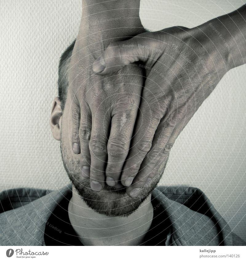 nicht gelbsüchtig Mensch Mann Hand Gesicht Gefühle Haare & Frisuren Mund Haut Behaarung Ohr Schutz Bart entdecken Massage Fragen