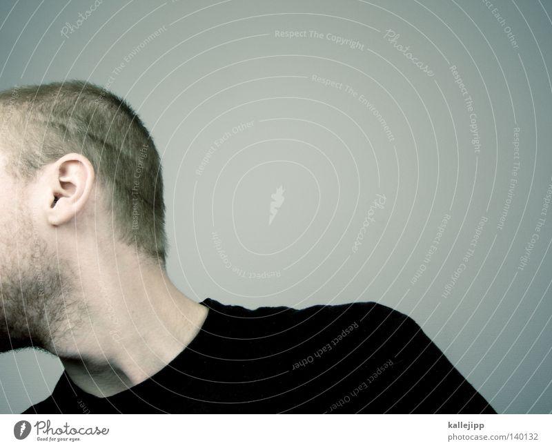 ausgebüchst Mann Mensch Porträt Fragen Bart Haare & Frisuren entdecken Gefühle question ? Gesicht 20 - 30 jahre Blick nose Mund Haut Ohr kallejipp