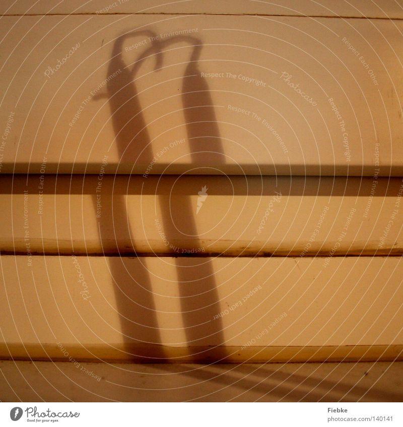 Liebeserklärung Herz Kerze Fensterbrett Fensterrahmen Schatten werfen verbinden Verbindung Kerzendocht Wachs nebeneinander Kerzenschein geheimnisvoll Gefühle