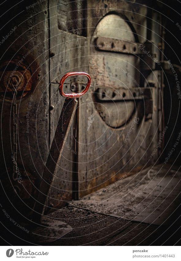 schaltbubu | alter schalter! Technik & Technologie retro Eisenbahn Zeichen nah Rost Maschine Lokomotive Zugabteil Steuerelemente Dampflokomotive Hebelschalter