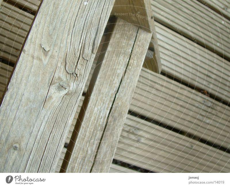 Holztreppe hell braun Architektur Treppe Streifen Balken Veranda