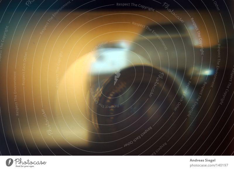 MF-Messfeld Fotokamera Spiegelreflexkamera Sucher Objektiv Linse Optisches Gerät fokussieren Kreis alt analog Fotografie Unschärfe unklar Freizeit & Hobby