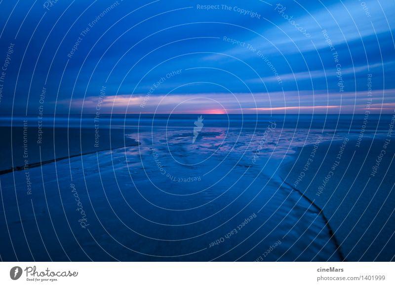 die letzte Kraft der Sonne Himmel Ferien & Urlaub & Reisen blau Wasser Erholung Meer Landschaft ruhig Wolken Ferne dunkel Umwelt Wärme natürlich