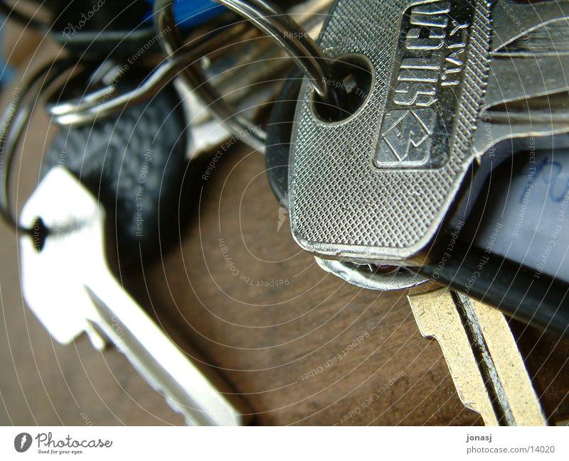 Schlüsselbund Holz Wohnung Tisch Dinge Schlüssel