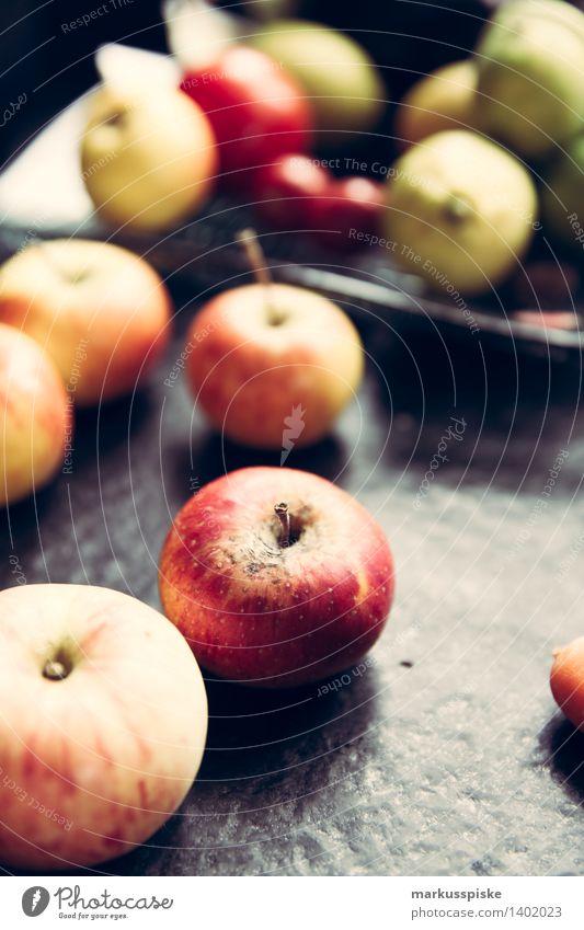 bio äpfel Natur alt Gesunde Ernährung Haus Leben Essen Gesundheit Garten Lifestyle Lebensmittel Wohnung Häusliches Leben authentisch Fitness Küche