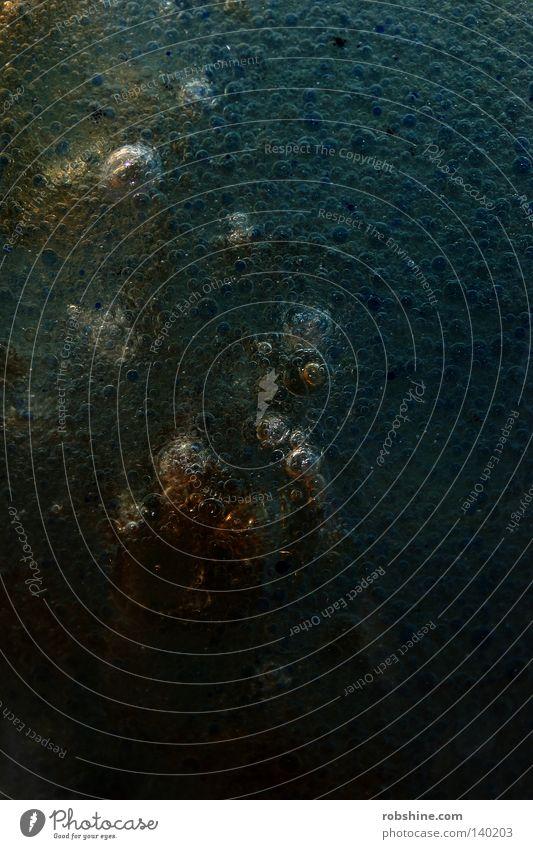 Greetings from Hubble - II Luftblase Blase Flüssigkeit Mineralwasser sprudelnd abstrakt Blubbern Experiment Öl Essig Tinte Mischung Detailaufnahme Makroaufnahme