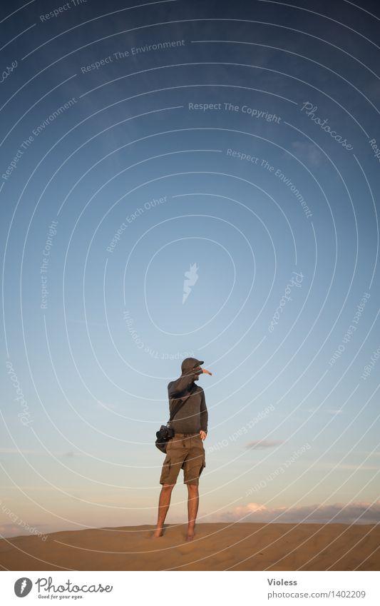 Wo kommen Sie denn? Ferien & Urlaub & Reisen Ausflug Abenteuer Safari Expedition Sommer Sommerurlaub Sonne Umwelt Natur Sand Sonnenlicht entdecken Rubjerg