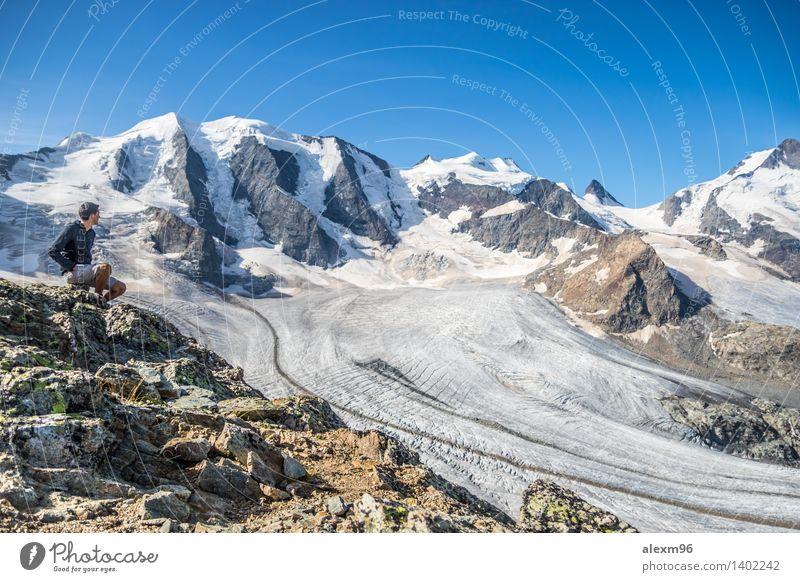 Grandioses Panorama in den Alpen Natur Ferien & Urlaub & Reisen Sommer Sonne Landschaft ruhig Ferne Winter Berge u. Gebirge Umwelt Schnee Lifestyle Freiheit