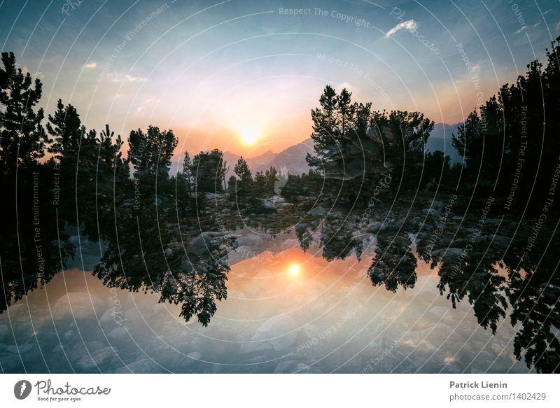 Different Reality Zufriedenheit Sinnesorgane Erholung ruhig Meditation Sommer Umwelt Natur Landschaft Urelemente Luft Himmel Wolken Sonne Sonnenaufgang